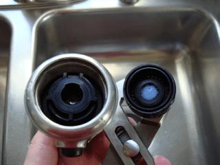 Installing a a low flow aerator kitchen spray head