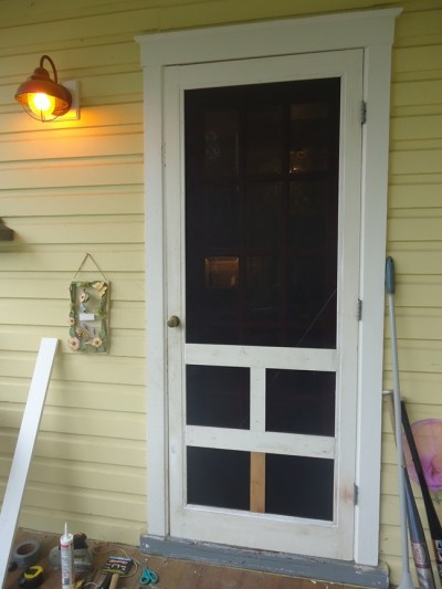 Pet Screen Installed on T-bar Screen Door