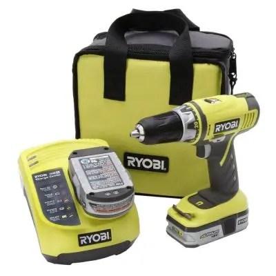 Ryobi 18V Lithium Ion ONE+ Cordless Drill Kit