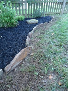 Cultivated Turf Stone Border Edging