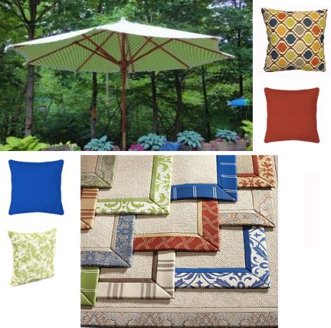 DIY Summer Decorating Ideas :: Outdoor Fabric Montage