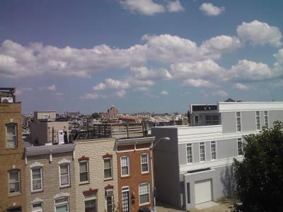 Baltimores Cornices from a Rooftop