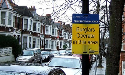 Burglar Operate Here via Flickr