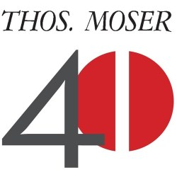 Thos. Moser Cabinetmakers :: Thos. Moser 40th Anniversary Logo