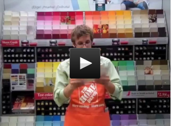 home depot paint section
