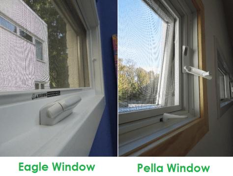 Eagle Window Pella Window Awning Window Comparison