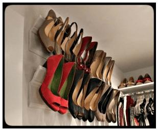 Crown Molding Ideas :: Crown Molding as a Shoe Rack