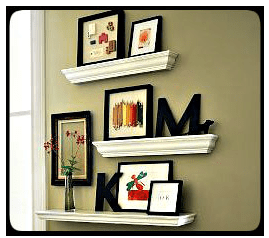 Crown Molding Ideas :: Crown Molding as Decorative Shelving