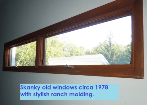 Old Windows with Ranch Style Trim