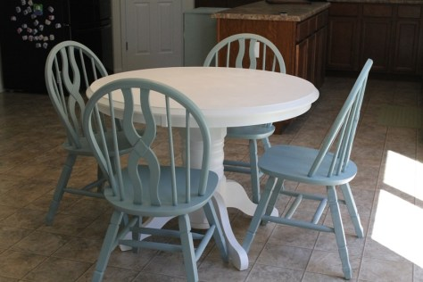 refinishing with paint project Table After