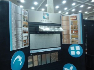 1005 Design Aluminum BackSplash Booth at the Remodeling Show