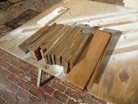 These Cedar Shakes and Scrap Cedar to become a Birdhouse