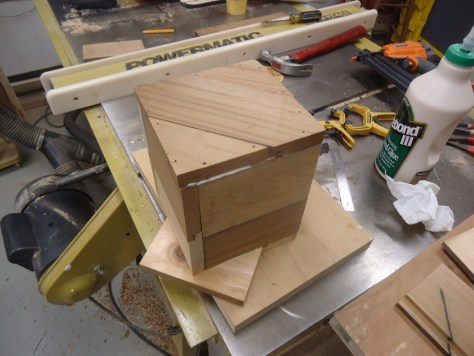 completed box with front and back attached