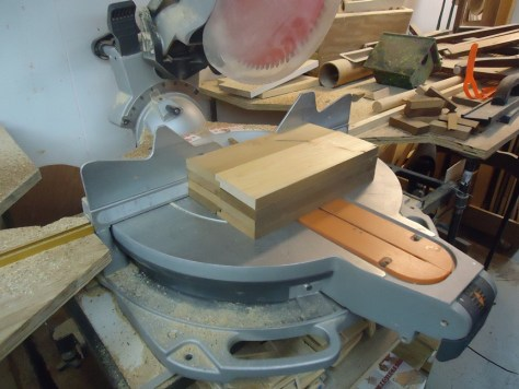 cutting notched boards on sliding miter saw