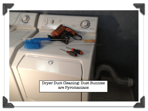 Dryer Duct Cleaning Dust Bunnies are Pyromaniacs