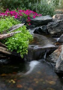 Natural Looking Waterfall