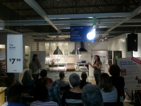 Amy Hughes Alex Bandon Presenting at Ikea