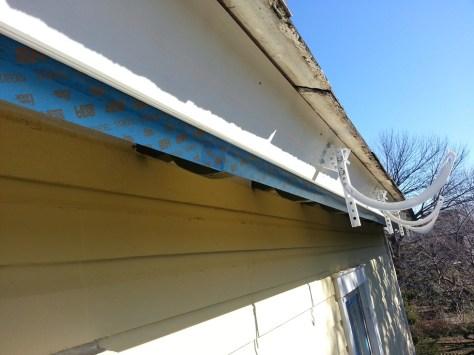 caulk line for setting gutter brackets