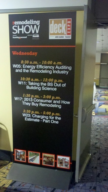 2013 Remodeling Show Class Signage