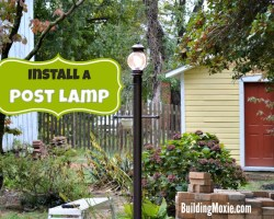 Install a Post Lamp on a Patio