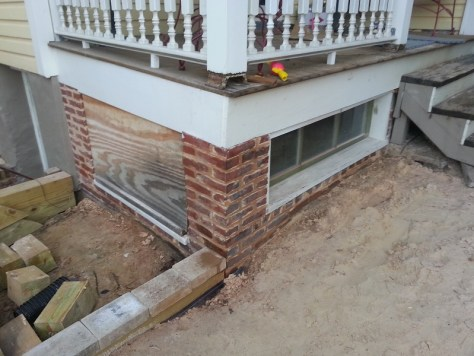 brick foundation repointed
