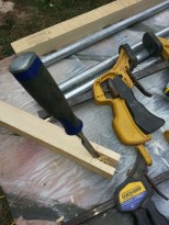chiseling-out-mortise-in-frame