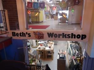 entrance of Beths DIY Workshop