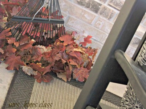 frontporch leafs rake Mrs Hines class