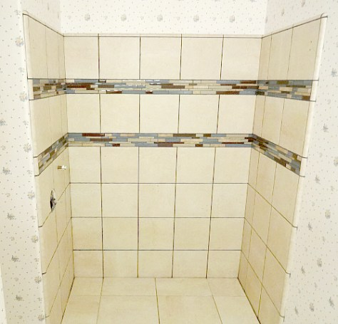 tiled walls and floors