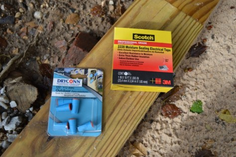 waterproof connectors moisture sealing tape