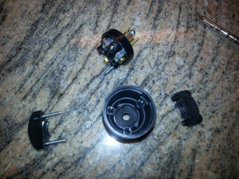 grounded plug disassembled