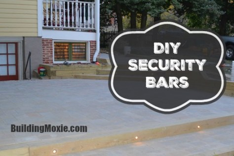 DIY Security Bars on a Basement Window