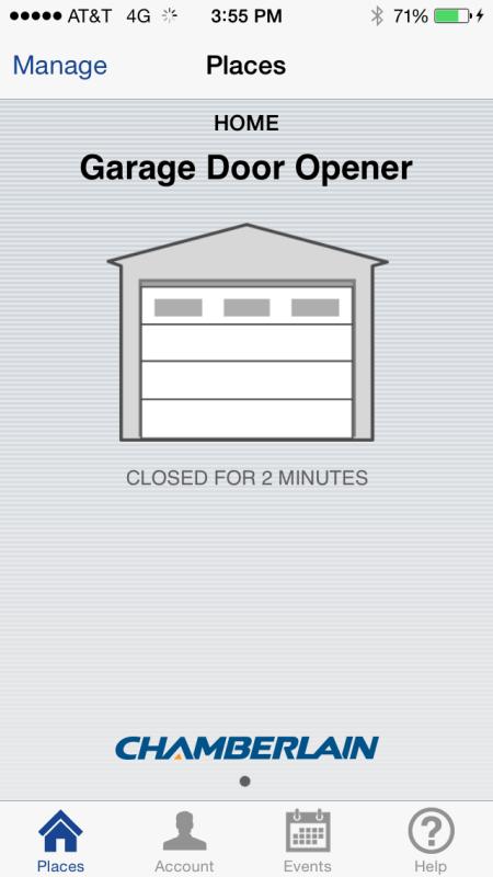 MyQ door closed