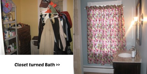 Closet turned Master Bath