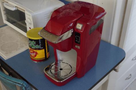 Image of Keurig single-serve coffee maker.