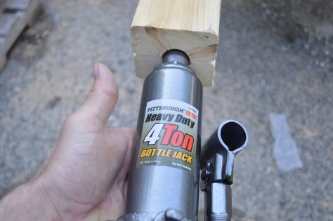 creating a slot at the bottom of the 2x4