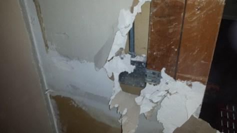 electrical box found in a weird location behind a wall