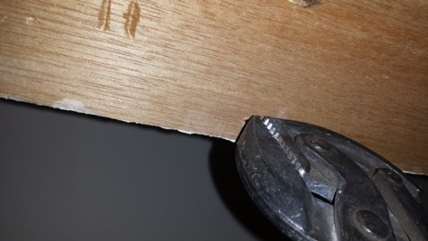 remove the nails from the back of the trim