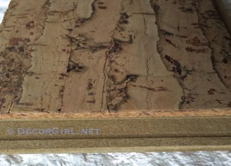Cork plank flooring