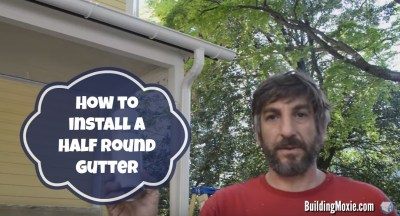 Install a Half Round Gutter