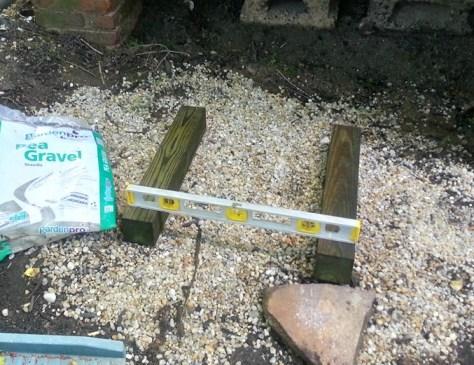 Setting Leveling Gravel Base