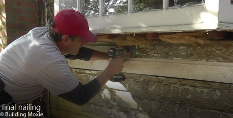 Repairing Dutch Lap Wood Siding Pre-Drill