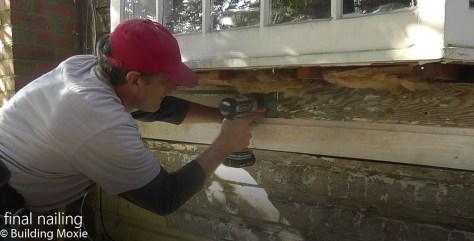 Repairing Dutch Lap Wood Siding Pre-Drill