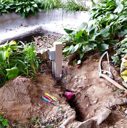 Electrical Post Concrete Pond