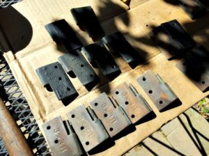 Antique Pin Style Shutter Hinges with Labeling