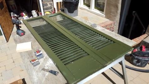 installing shutter hinges work bench
