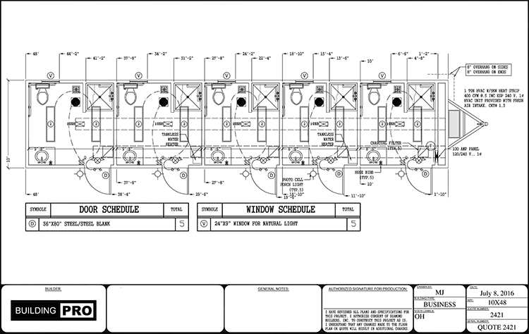 Floor Plans for Portable, Modular Restrooms & Showers and