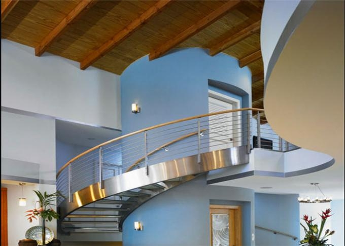 Stainless Steel Metal Spiral Staircase Curved Basement Stairs | Spiral Staircase To Basement | Rustic | Do It Yourself Diy | Log Cabin | Hidden | Stairway