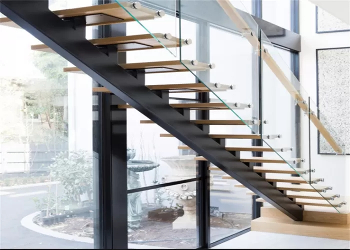 Mono Stringer Contemporary Glass Staircase Steel And Wood   Steel And Wood Staircase Design   Inside   Outdoor   Detail   Wooden   Metal