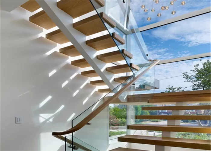 Mono Stringer Wood And Metal Staircase Design Flexibility With | Steel Stair Stringer Design | Structural | Simple | Step | Free Standing | 3 4 Wood Stringer